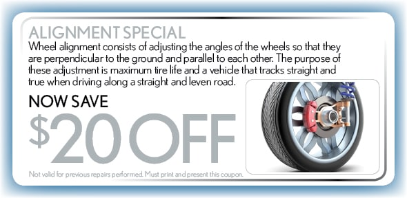 Alignment Service Coupon, Atlanta, TX Automotive Service Special