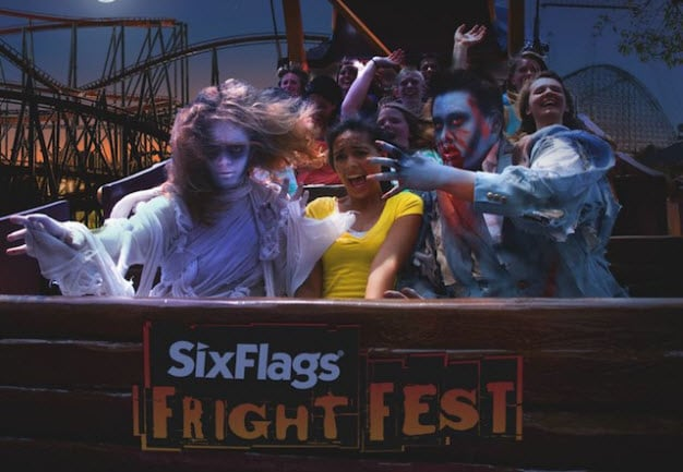 fright fest at six flags over texas