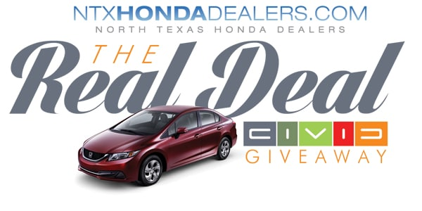 North Texas Honda Dealers And CBS Radio Present The Dallas Fort Worth Real  Deal Giveaway!