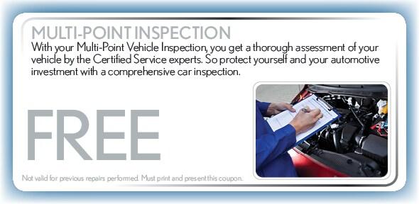 Multi Point Inspection Service Coupon Arlington Tx