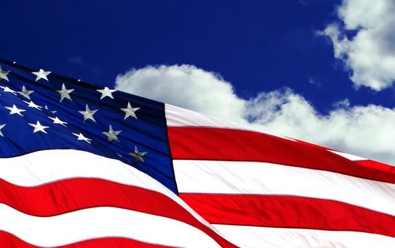 American Flag Against the Sky