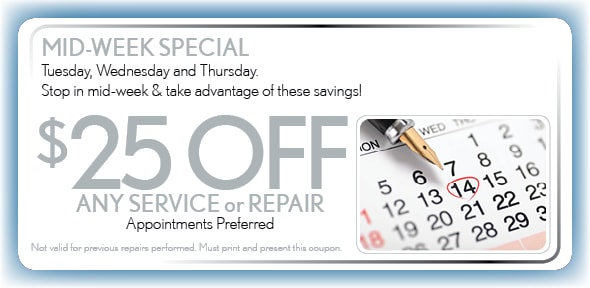 Mid-Week Service Coupon, Arlington, TX Honda Service Special. If no image displays, this offer has ended.