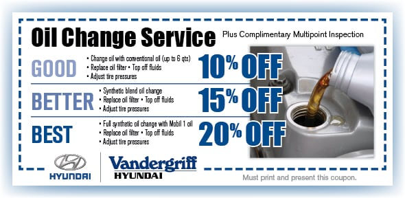 Hyundai oil change coupons canada