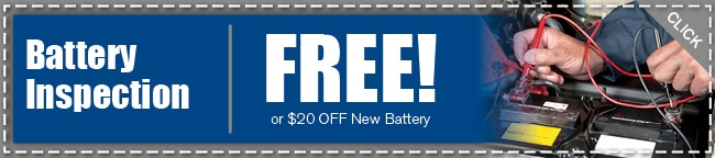 Battery Inspection Service Coupon, Arlington