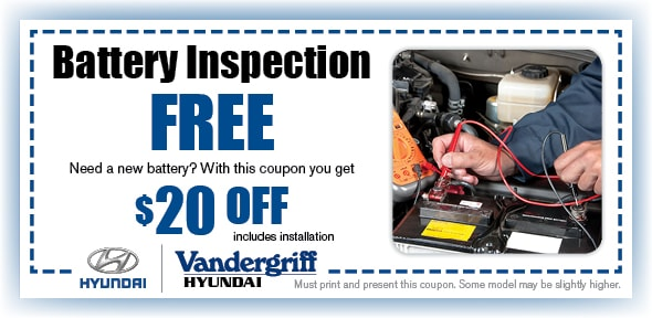 Battery Service | Vandergriff Hyundai Service Arlington TX