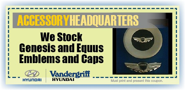 Emblems & Caps | Vandergriff Hyundai Service Arlington TX