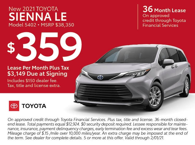 January Lease specials
