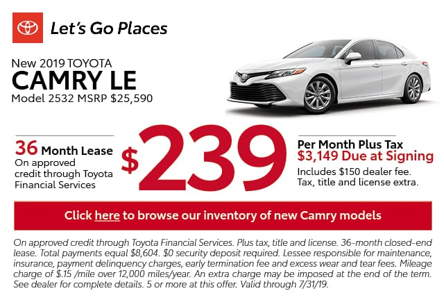 New Toyota Lease Specials New Used Car Offers San Antonio Tx