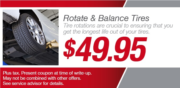 Rotate Amp Balance Tires Vandergriff Toyota Service Coupon