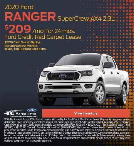October 2020 Ford Ranger SuperCrew 4X4 2.3L