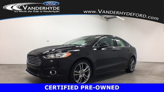 used certified 2015 Ford Fusion Titanium Sedan for sale in Rockford MI