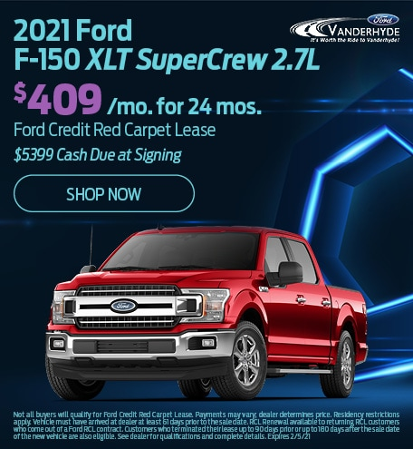 January 2021 Ford F-150 XLT SuperCrew 2.7L