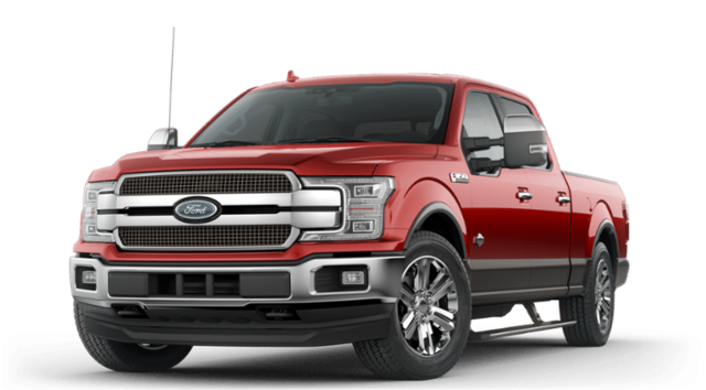 A white 2019 Ford F-150 STX