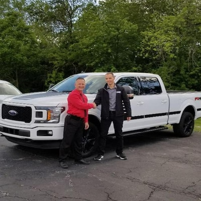 Customer with a new Ford Truck!