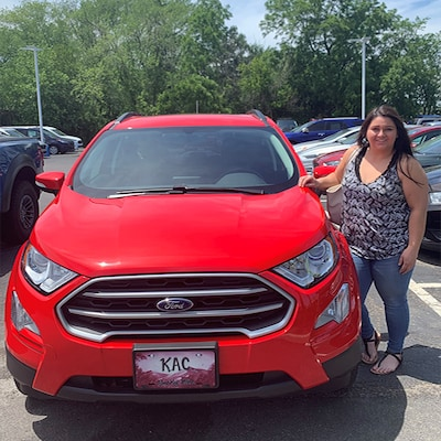 Customer with a new Ford SUV!
