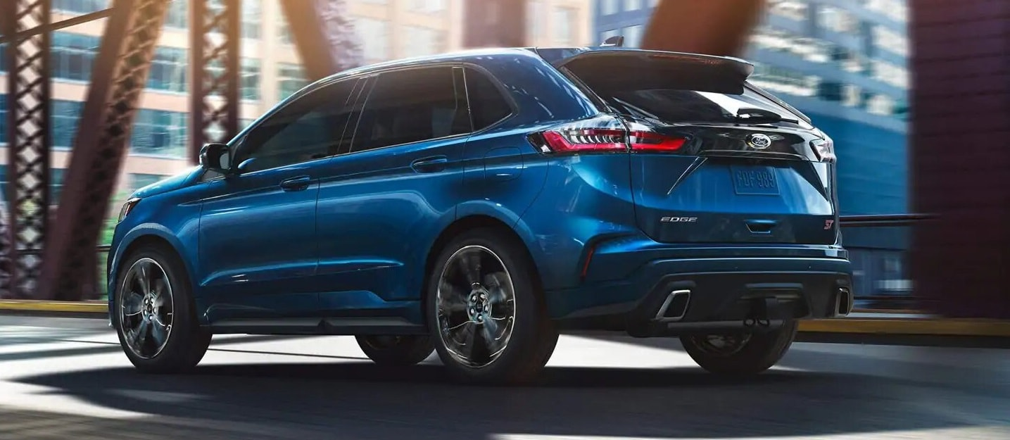 A Blue 2019 Ford Edge Parked
