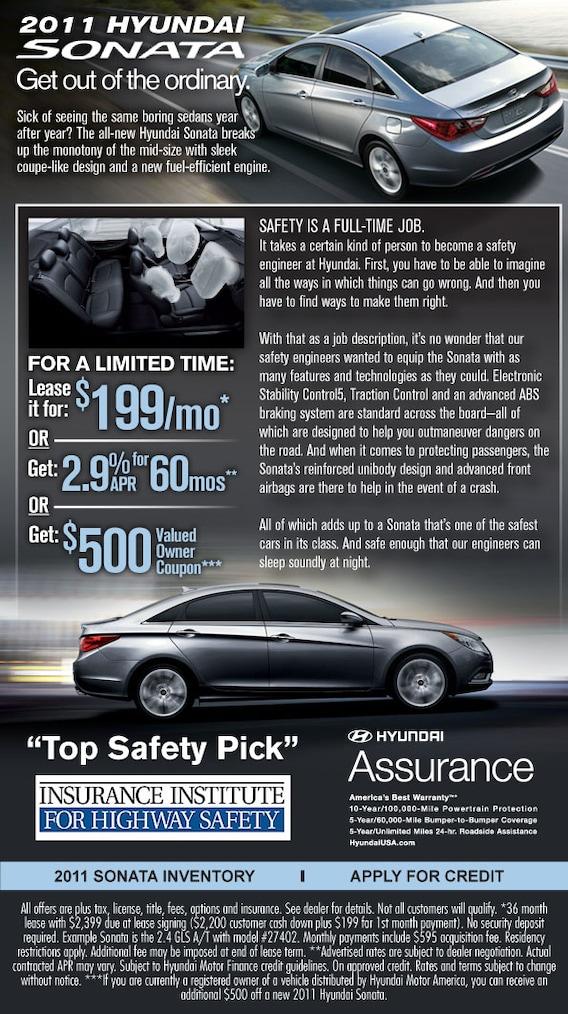 2011 Hyundai Sonata Current Offers | Arlington, TX
