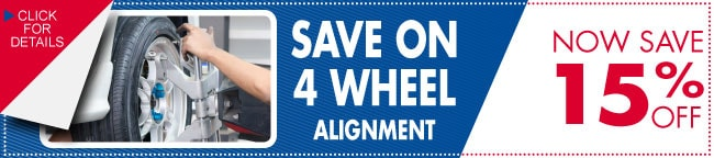 4 Wheel Alignment Coupon, Dallas, TX