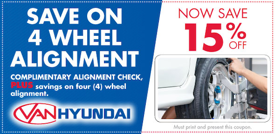 Tire Alignment Coupon >> 4 Wheel Alignment Van Hyundai Service Coupon Dallas Tx