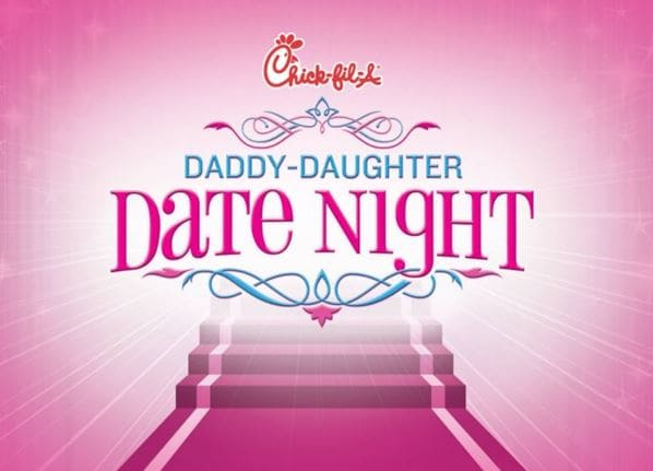 daddy-daughter date night at chick-fil-a in carrollton, texas