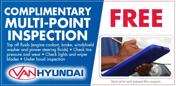 Multi-point Inspection Service Coupon, Carrollton, TX Hyundai Service Special. If no image displays, this offer has ended.