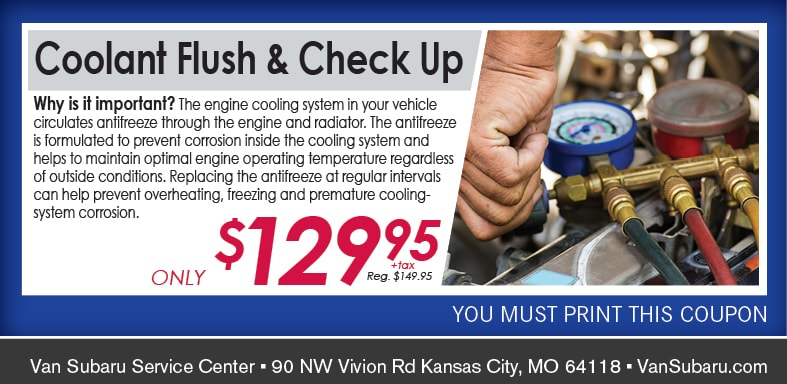 Coolant Flush Service Coupon, Kansas City Automotive Service Special. If no image, this offer has ended.