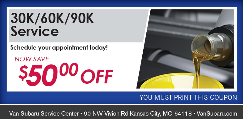 30-60-90K Mileage Maintenance Service Coupon, Kansas City Automotive Service Special. If no image, this offer has ended.