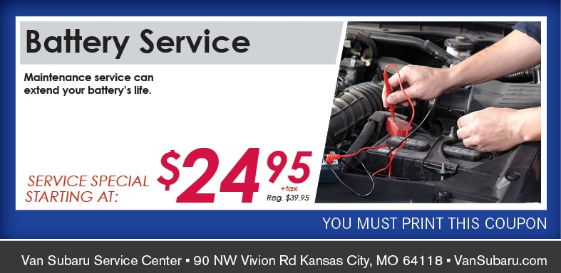 Battery Service Coupon, Kansas City Automotive Service Special. If no image, this offer has ended.