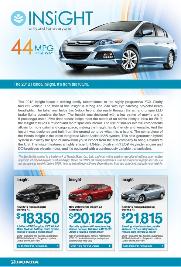 Good 2012 Honda Insight Models