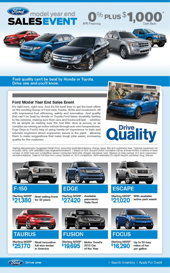 July Finance Specials At Camelback Ford Camelback Ford