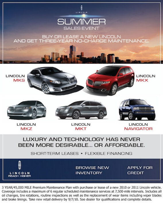 Lincoln Dealership Houston >> New Lincoln Car Suv Summer Sales Event At Joe Myers Ford In
