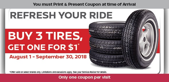 Buy 3 Tires Get 1 Free Trophy Nissan
