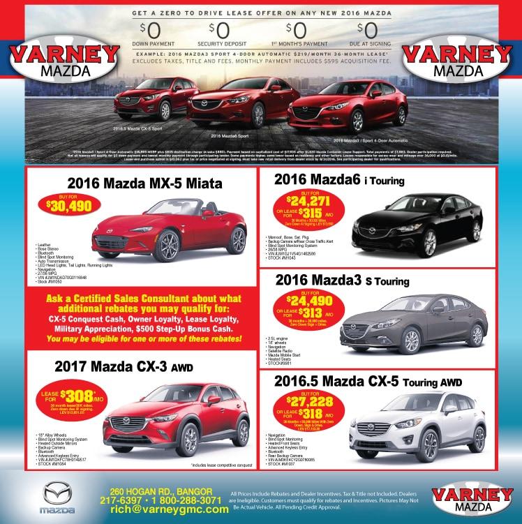 Varney Mazda New Mazda Dealership In Bangor ME - Mazda dealers maine