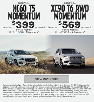 2020 Volvo XC60 T5 Momentum & 2020 XC90 T6 AWD Momentum