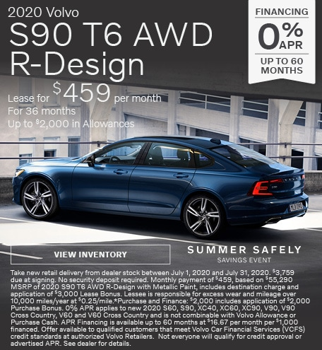 New 2020 Volvo S90 T6 AWD R-Design
