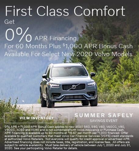 First Class Comfort - 0% APR Financing