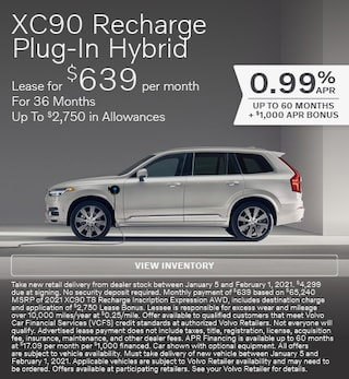 New 2021 Volvo XC90 Recharge Plug-In Hybrid