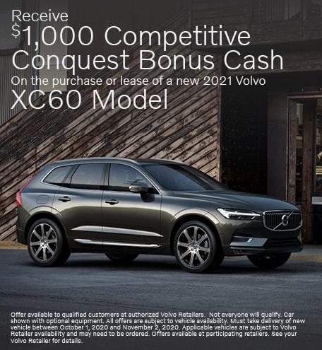New 2021 Volvo XC60 Conquest Bonus