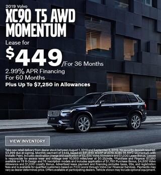New 2019 Volvo XC90 T5 AWD Momentum