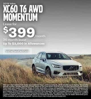 New 2019 Volvo XC60 T6 AWD Momentum