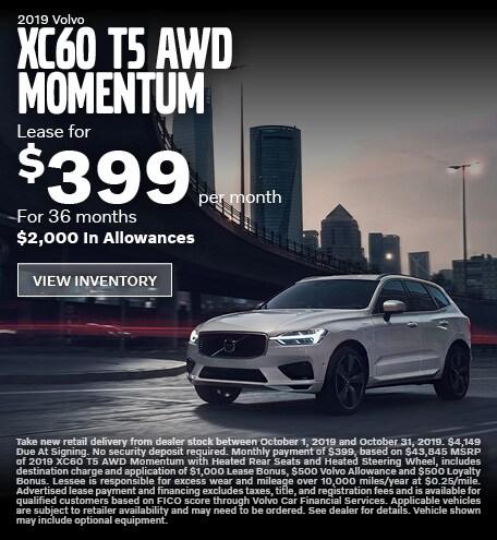 New 2019 Volvo XC60 T5 AWD Momentum
