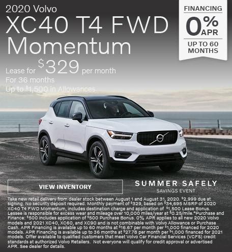 New 2020 Volvo XC40 T4 FWD Momentum