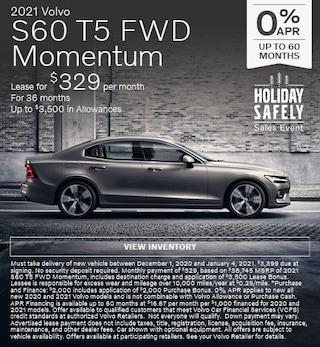 New 2021 Volvo S60 T5 FWD Momentum