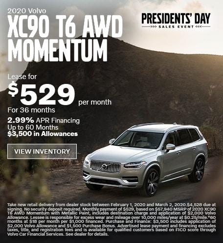 New 2020 Volvo XC90 T6 AWD Momentum