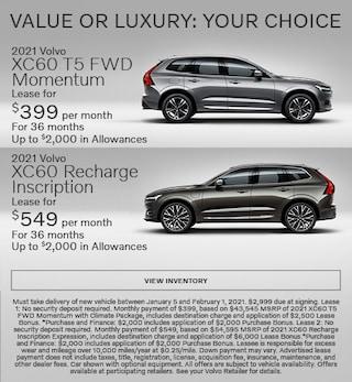 New 2021 Volvo XC60 T5 FWD Momentum & XC60 Recharge Inscription