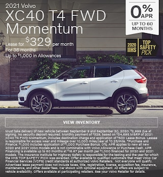 New 2021 Volvo XC40 T4 FWD Momentum