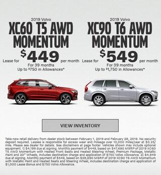 New 2019 Volvo XC60 and Volvo XC90