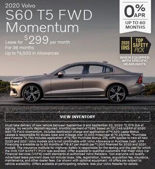 New 2020 Volvo S60 T5 FWD Momentum