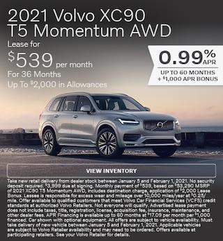 New 2021 Volvo XC90 T5 Momentum AWD