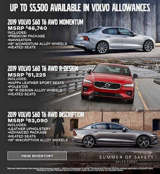 Up To $5,500 Available In Volvo Allowances